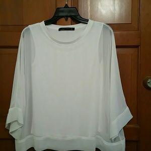 Zara Woman White tops Made in  Turkey